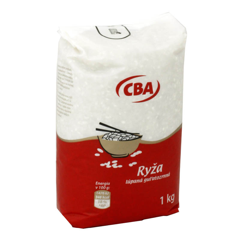 Ryža lúpaná guľatozrnná CBA 1kg