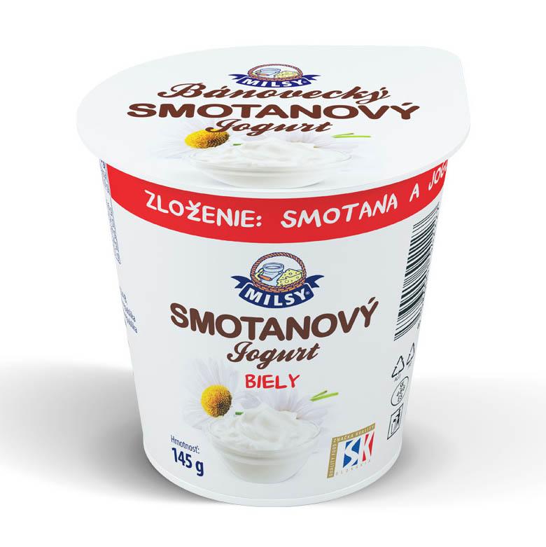 Bánovecký smotanový jogurt biely MILSY 145g