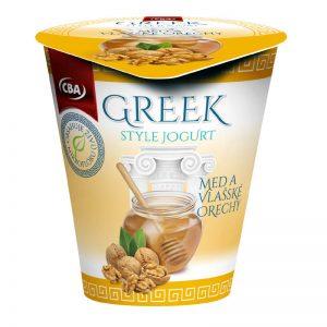 Jogurt Greek Style med a vlašské orechy CBA 150g