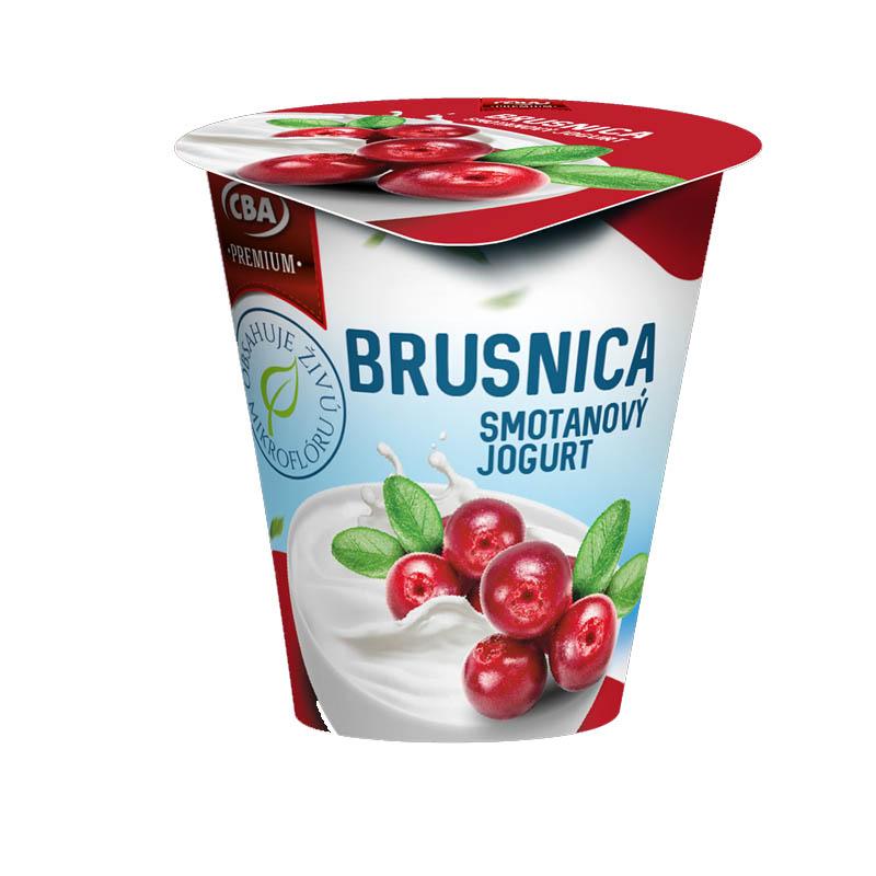 Jogurt Premium smotanový brusnicový CBA 145g