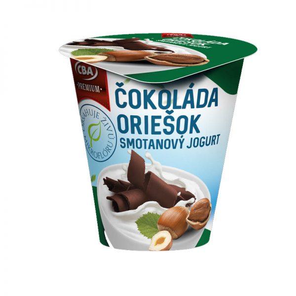 Jogurt Premium smotanový čokoládový oriešok CBA 145g
