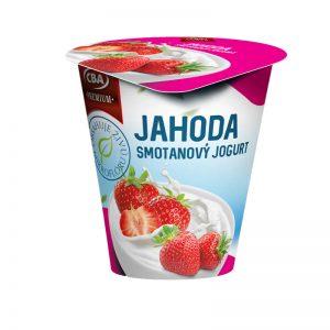 Jogurt Premium smotanový jahodový CBA 145g