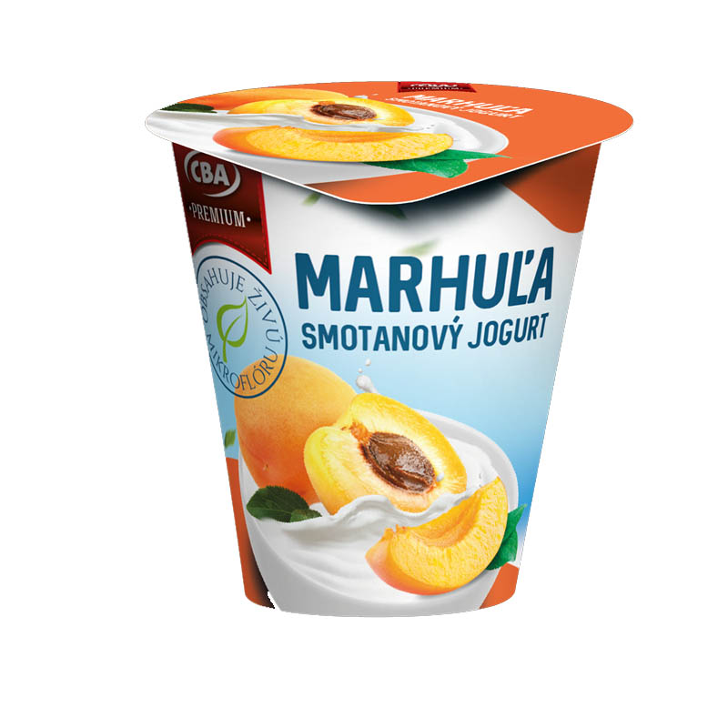 Jogurt Premium smotanový marhuľový CBA 145g
