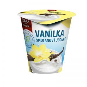 Jogurt Premium smotanový vanilkový CBA 145g donáška potravín Zlaté Moravce