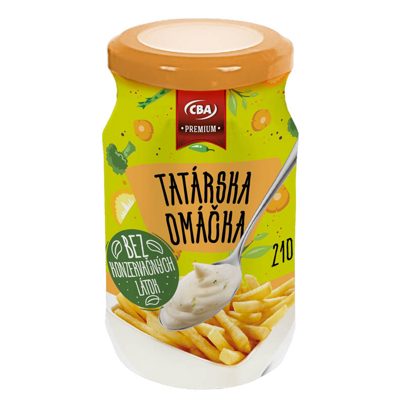 Tatárska omáčka Premium CBA 210g