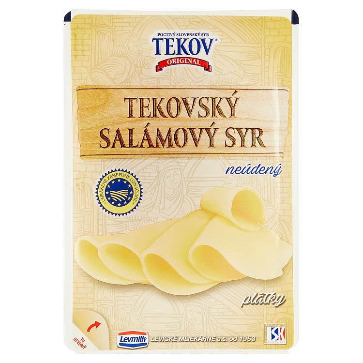 Tekovský salámový syr neúdený porciovaný 100g
