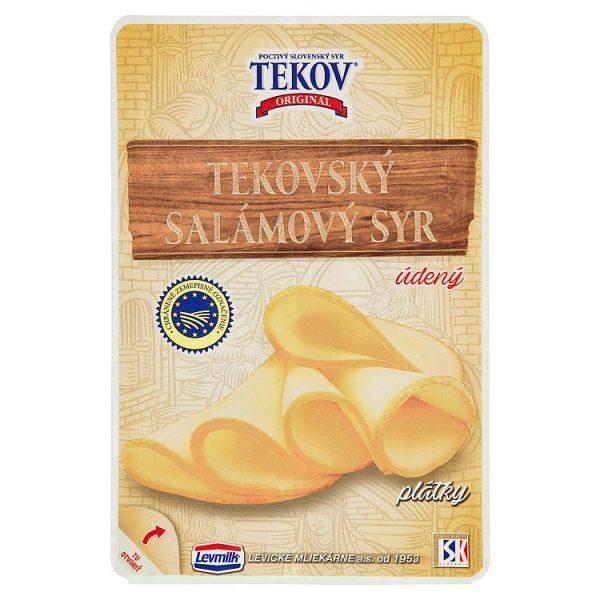 Tekovský salámový syr údený porciovaný 100g