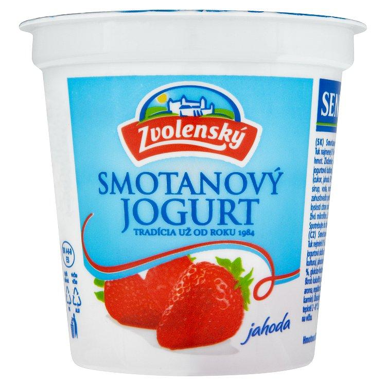 Zvolenský smotanový jogurt jahodový 145g