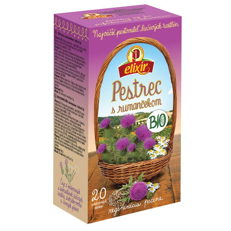 Pestrec s rumančekom čaj Bio Agrokarpaty 40g
