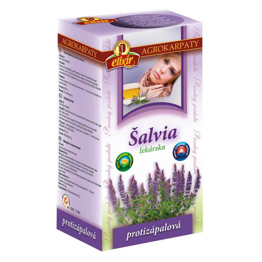 Šalvia lekárska čaj Agrokarpaty 40g