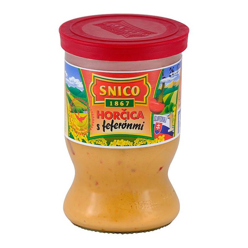 Horčica s feferónmi Snico 180g