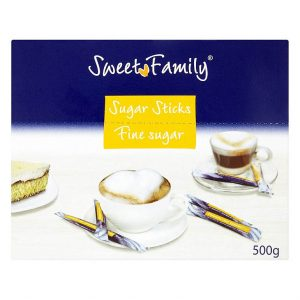 Krupicový cukor v tyčinkách Sweet Family 100x5g