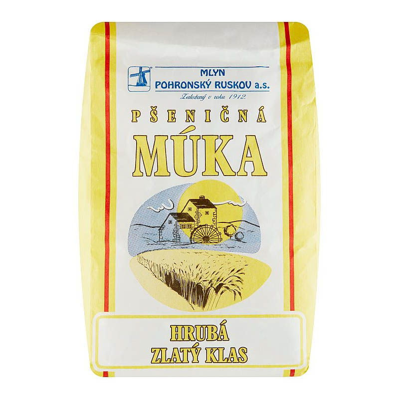 Pšeničná múka Hrubá Zlatý klas Mlyn Pohronský Ruskov 1kg