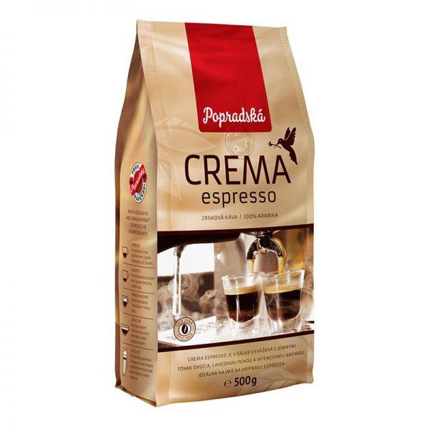 Popradská zrnková káva Crema Espresso 500g