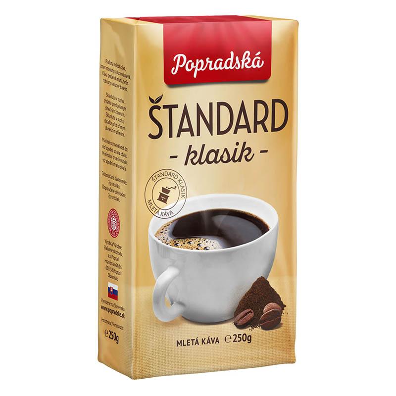 Popradská mletá káva Štandard Klasik 250g