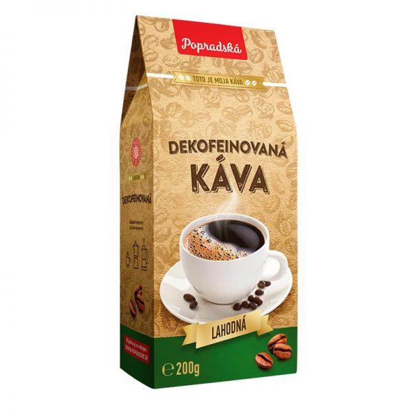 Popradská mletá káva Dekofeínovaná 200g
