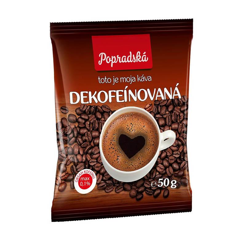 Popradská mletá káva Dekofeínovaná 50g