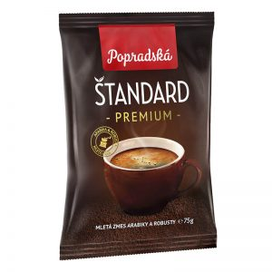 Popradská mletá káva Štandard Premium 75g