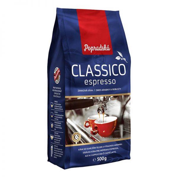 Popradská zrnková káva Classico Espresso 500g