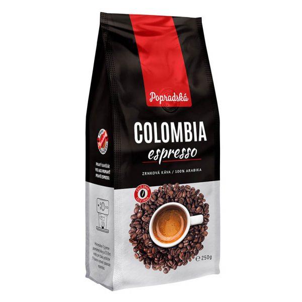 Popradská zrnková káva Colombia Espresso 250g