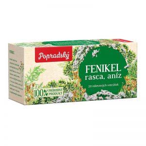Popradský bylinný čaj Fenikel, Rasca, Aníz 30g