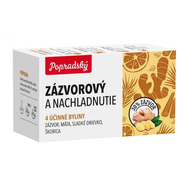 Popradský funkčný čaj Zázvorový a nachladnutie 22,5g