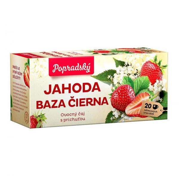 Popradský ovocný čaj Jahoda a Baza čierna 40g