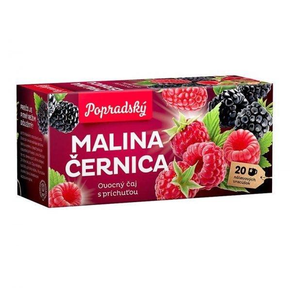 Popradský ovocný čaj Malina a Černica 40g