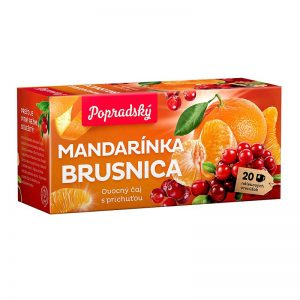 Popradský ovocný čaj Mandarínka a Brusnica 40g