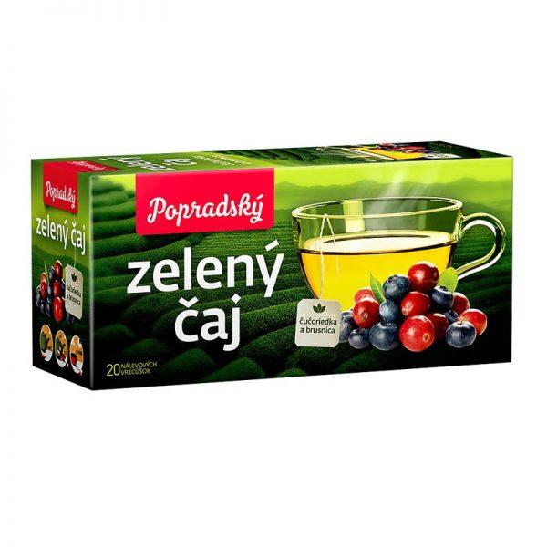 Popradský zelený čaj Čučoriedka a Brusnica 30g