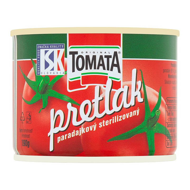 Pretlak paradajkový sterilizovaný Tomata 190g