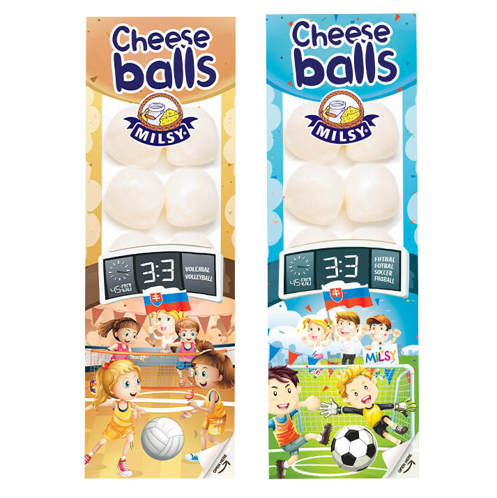 Syrové guľôčky Cheese Balls neúdené MILSY 80g
