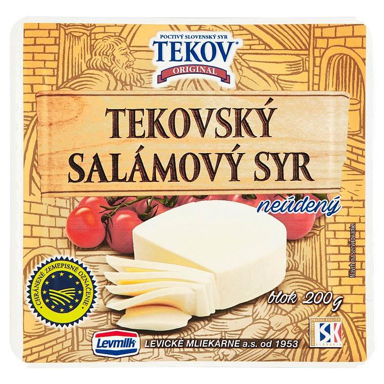 Tekovský salámový syr neúdený blok 200g