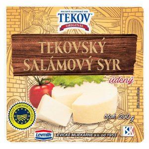 Tekovský salámový syr údený blok 200g