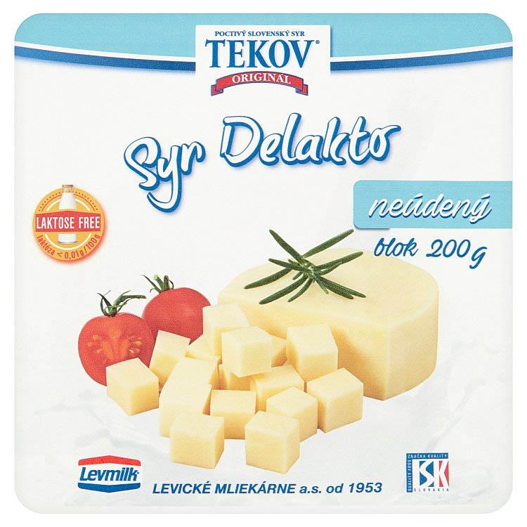 Tekovský syr Delakto neúdený blok 200g