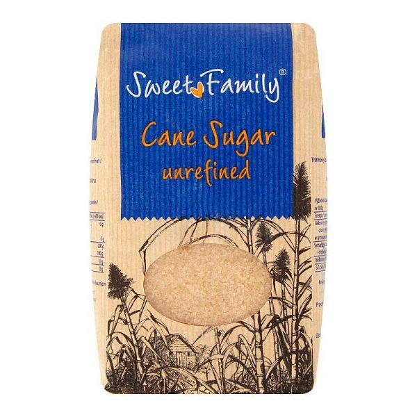 Trstinový cukor nerafinovaný Sweet Family 1kg