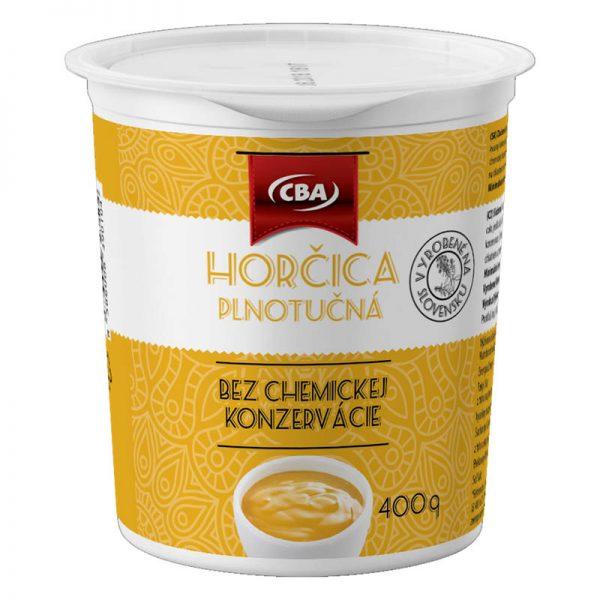 Horčica plnotučná CBA 400g donáška Zlaté Moravce