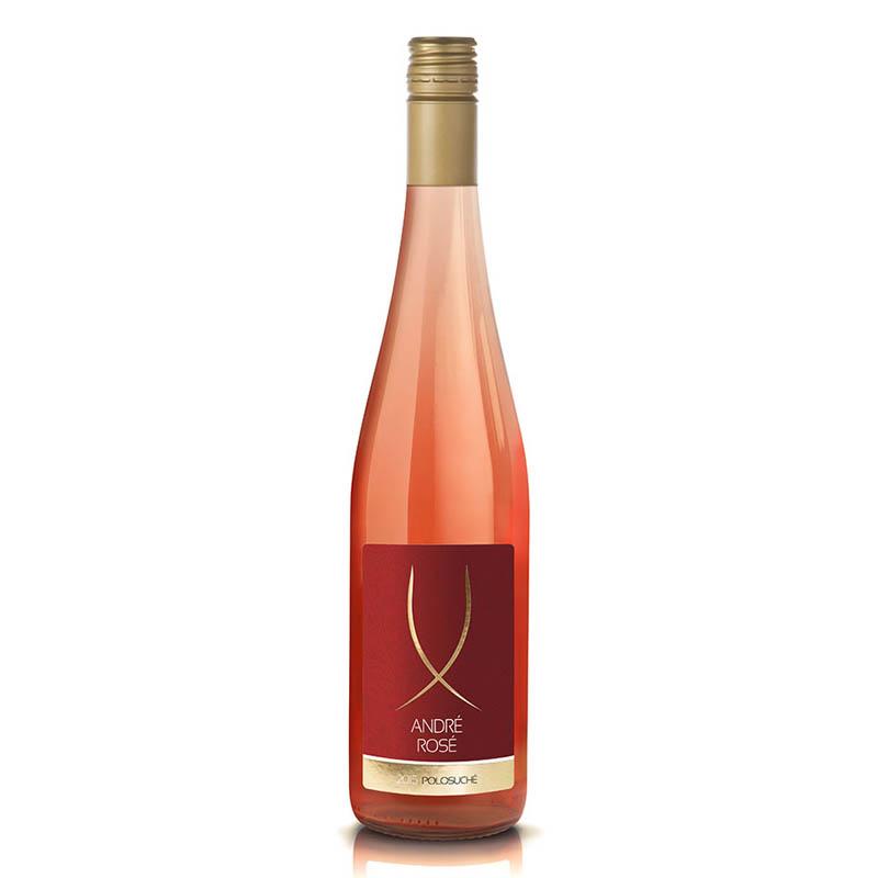 André Rosé slovenské akostné odrodové víno CH.O.P. ružové polosuché Víno Levice 0,75l