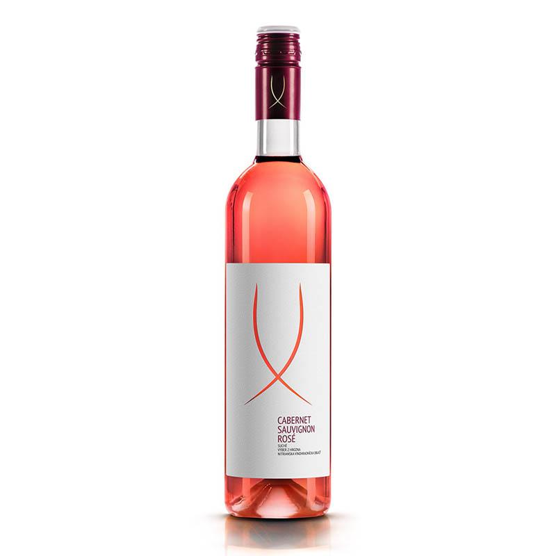 Cabernet Sauvignon ROSÉ slovenské akostné odrodové víno s prívlastkom kabinetné ružové polosuché Víno Levice 0,75l
