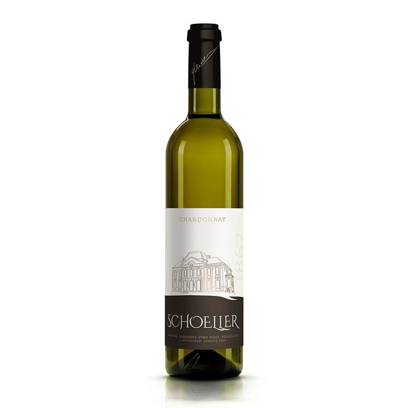 Chardonnay slovenské akostné odrodové víno s prívlastkom výber z hrozna biele polosuché Víno Levice 0,75l