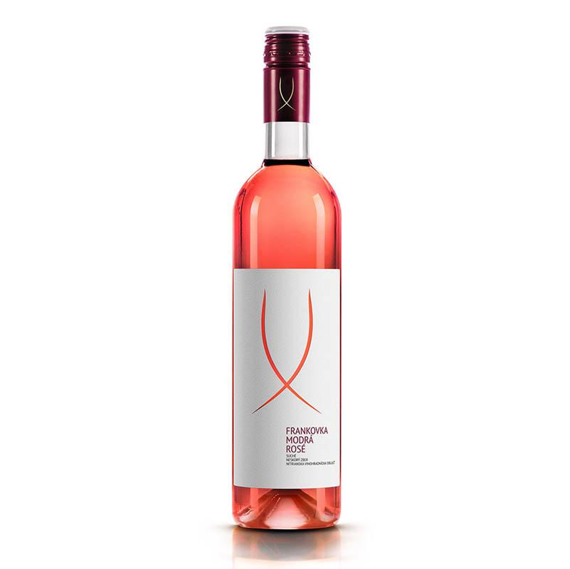 Frankovka modrá ROSÉ slovenské akostné odrodové víno s prívlastkom neskorý zber ružové suché Víno Levice 0,75l