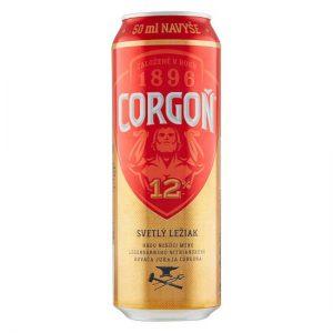 Corgoň 12% pivo svetlý ležiak 550ml donášková služba Zlaté Moravce
