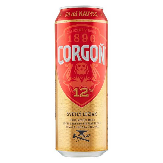 Corgoň 12% pivo svetlý ležiak 550ml