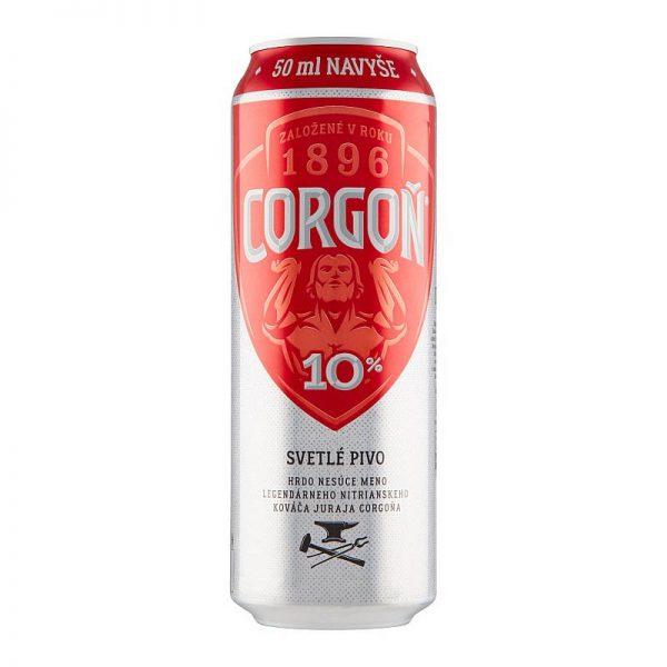 Corgoň 10% svetlé výčapné pivo 550ml donášková služba Zlaté Moravce