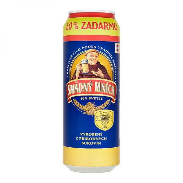Smädný mních 10% svetlé výčapné pivo 550ml donášková služba Zlaté Moravce