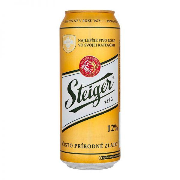 Steiger 12% ležiak svetlý 500ml donášková služba Zlaté Moravce