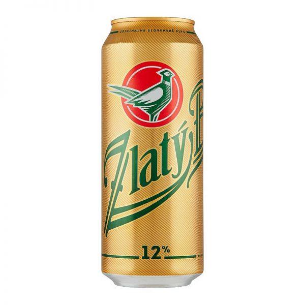 Zlatý bažant 12% pivo svetlý ležiak 500ml donášková služba Zlaté Moravce