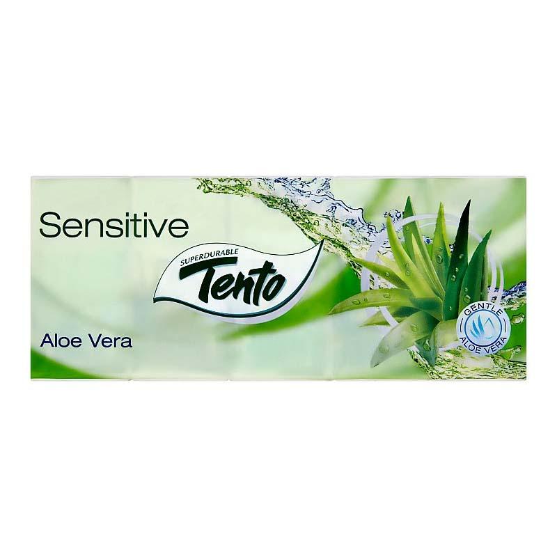 Hygienické vreckovky trojvrstvové Tento Soft Aloe Vera 10x10ks
