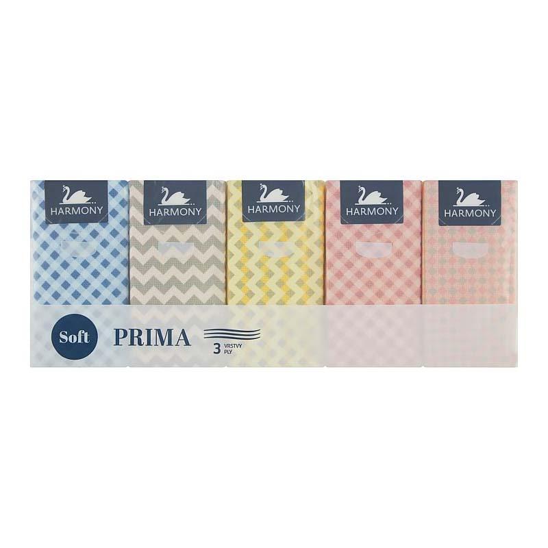 Vreckovky papierové trojvrstvové Harmony Prima 10x10ks
