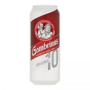 Gambrinus Originál 10% svetlé výčapné pivo 500ml donášková služba Zlaté Moravce